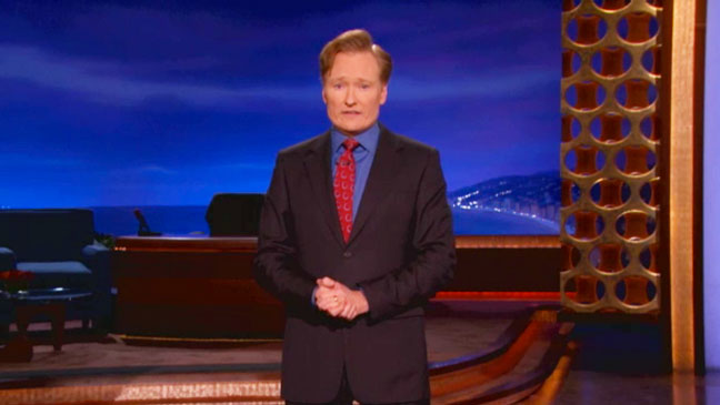 Conan O'Brien Boston Marathon Monologue Screengrab - H 2013