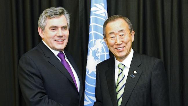 Gordon Brown Ban Ki-Moon H