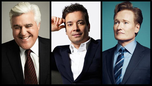 Jay Leno Jimmy Fallon Conan O'Brien Split - H 2013