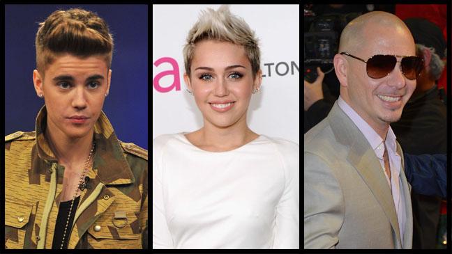 Justin Bieber Miley Cyrus Pitbull - H 2013