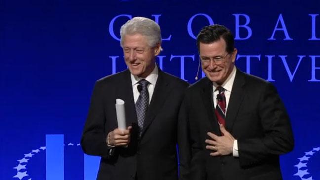 Stephen Colbert Bill Clinton Screengrab - H 2013