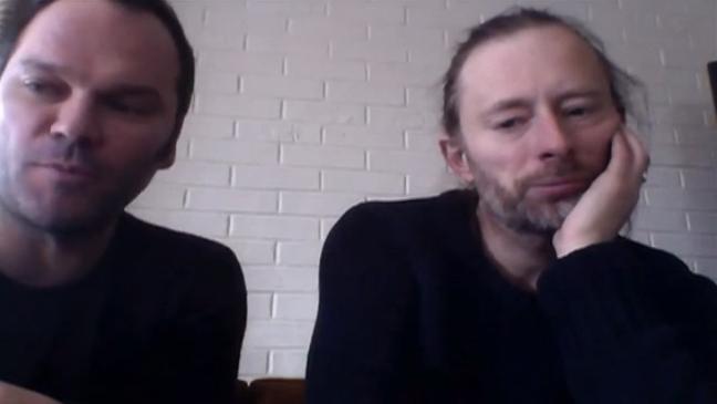 Thom Yorke Nigel Godrich screen grab L