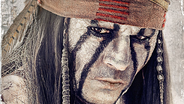 Lone Ranger Johnny Depp Close Up Key Art - H 2013