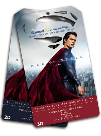 Walmart Superman Tickets - P 2013