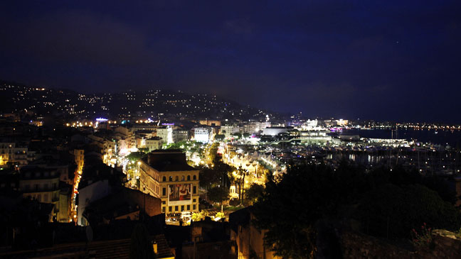 Cannes Film Festival Landscape at Night - H 2013