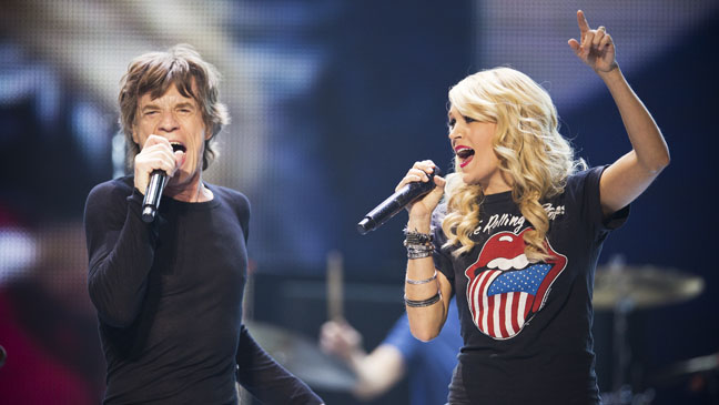Carrie Underwood Performing with Rolling Stones - H 2013