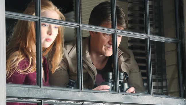 Castle Molly Quinn Nathan Fillion 5/13 Season 5 Finale - H 2013