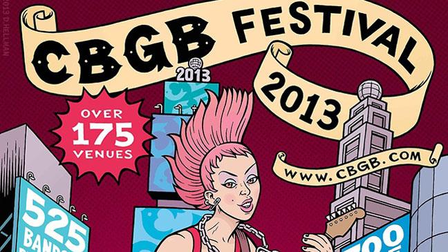 CBGB Festival Poster Art - H 2013