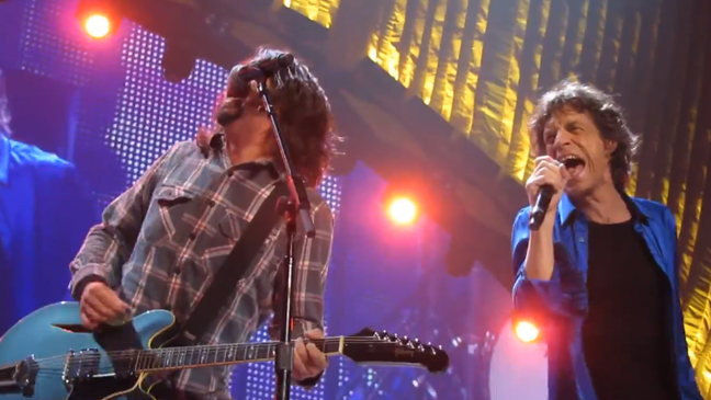 Dave Grohl Mick Jagger live 2013 L