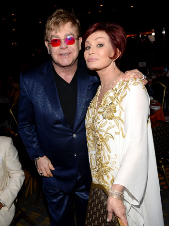 Elton John Sharon Osbourne MS Event - P 2013