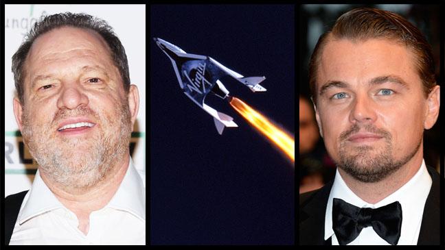 Harvey Weinstein Leonardo DiCaprio Virgin Galactic Split - H 2013