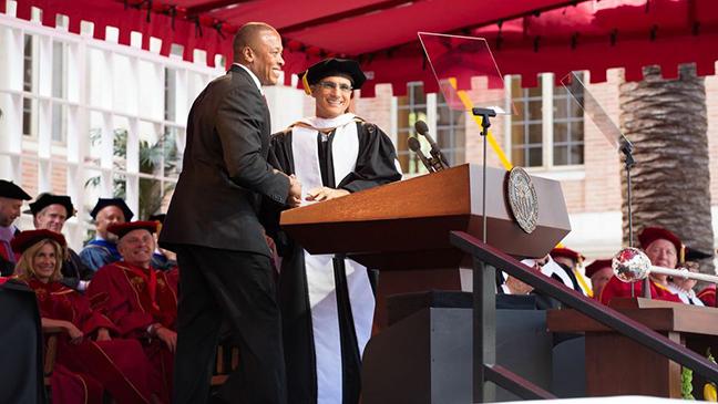 Jimmy Iovine Dr. Dre USC commencement 2013 L