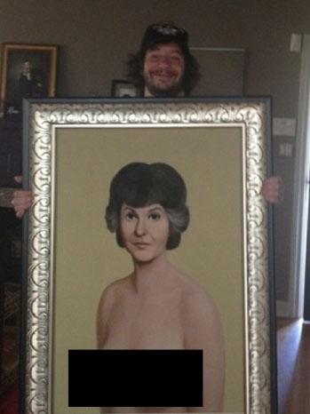Jimmy Kimmel Bea Arthur Painting Jeffrey Ross Blacked Out- P 2013
