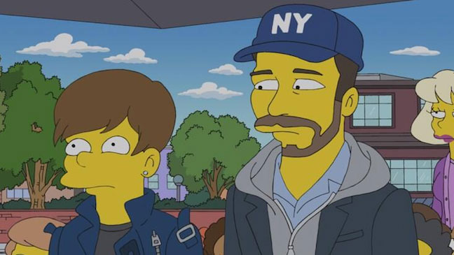 Justin Bieber and Scooter Braun Simpsons - H 2013