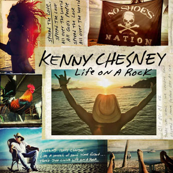 Kenny Chesney album 'Life on a Rock' Cover - S 2013