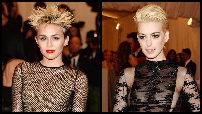 Miley Cyrus Anne Hathaway - H 2013