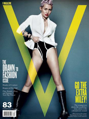 Miley Cyrus V Magazine Cover - P 2013
