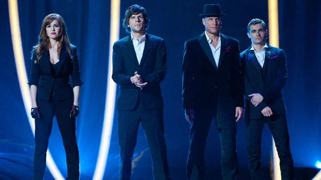 Now You See Me Cast on Stage - H 2013