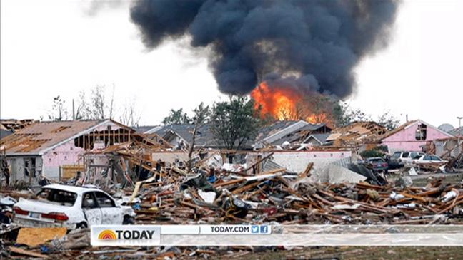 Oklahoma Tornado Coverage Today Show - H 2013