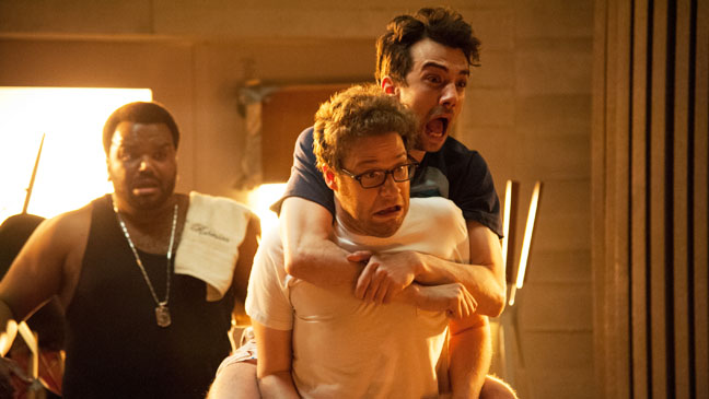 This Is The End Robinson Rogen Baruchel Scared - H 2013