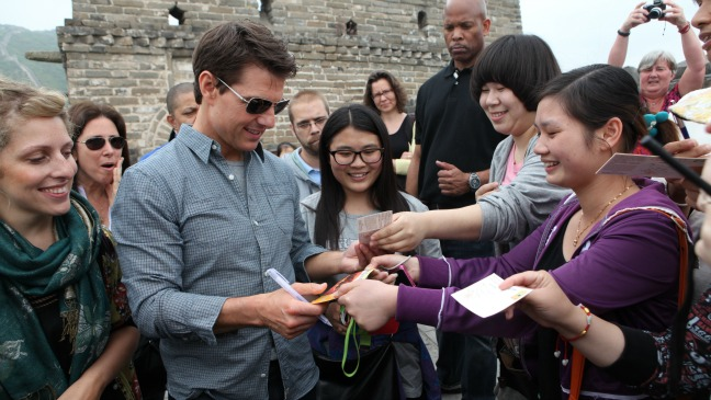 Tom Cruise Chinese Oblivion Tour - H 2013