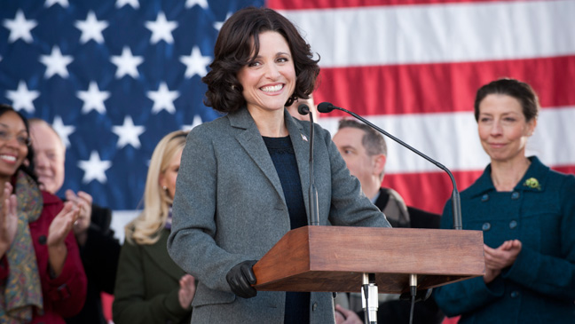 Veep Season 2 Episode 1 Julia Louis-Dreyfus at Podium - H 2013