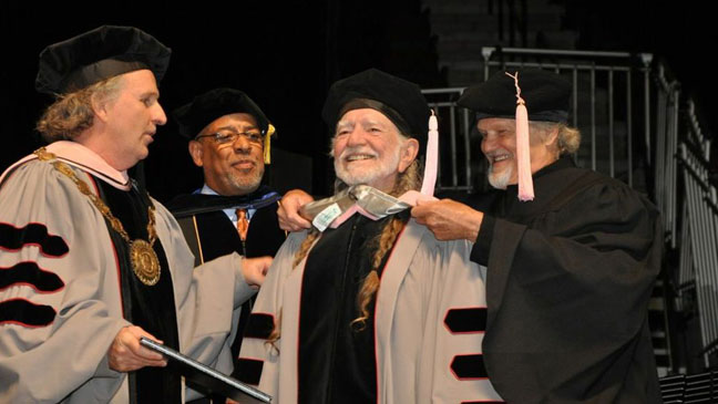 Willie Nelson Honorary Doctorate