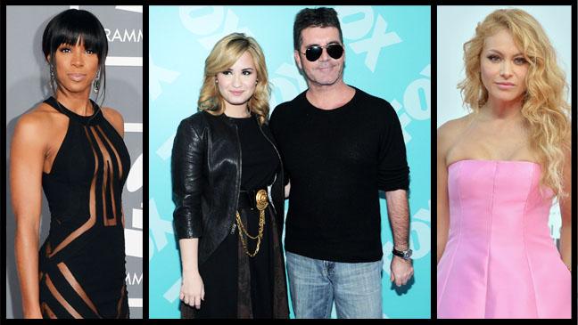 Simon Cowell Demi Lovato Kelly Rowland Paulina Rubio Split - H 2013