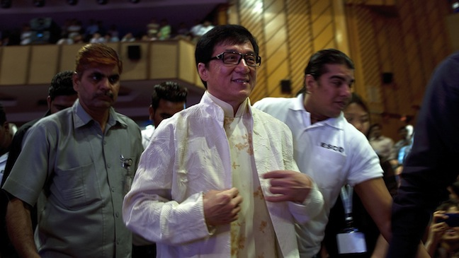 Jackie Chan arriving in India 2013 H