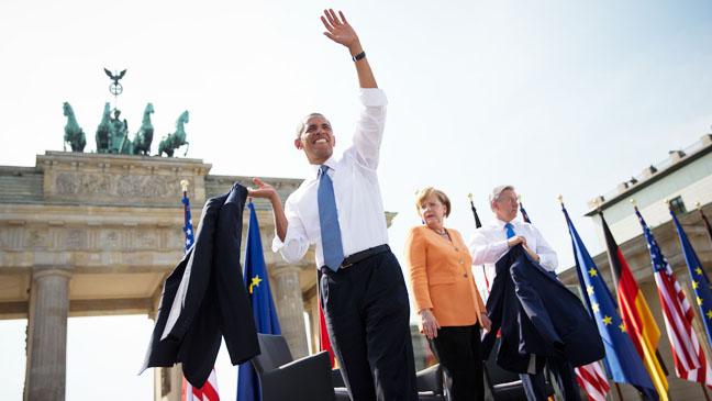 Barack Obama Speaking in Berlin - H 2013