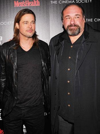 James Gandolfini Brad Pitt 2012 - P 2013