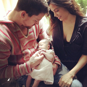 Channing Tatum with Daughter and Jenna Instagram - S 2013