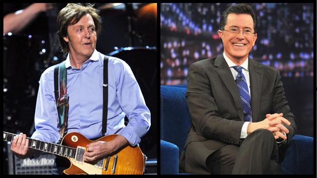 Stephen Colbert Paul McCartney Split - H 2013