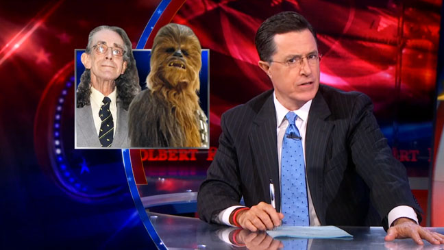 The Colbert Report Chewbacca - H 2013
