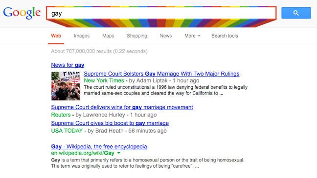 Gay Google Doodle - H 2013