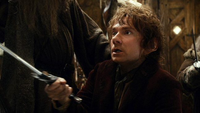 The Hobbit: Desolation of Smaug Bilbo with Sword 2- H 2013