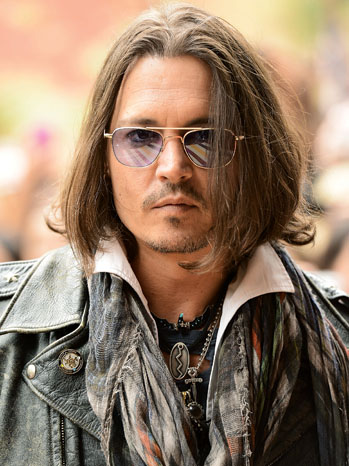 Johnny Depp Headshot - P 2013