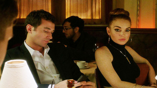 Lindsay Lohan James Deen The Canyons at Dinner - H 2013