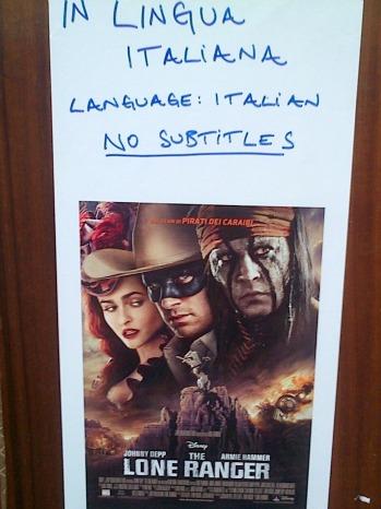 Lone Ranger Italian Poster - P - 2013