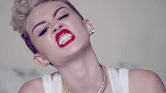 Miley Cyrus video screen grab L