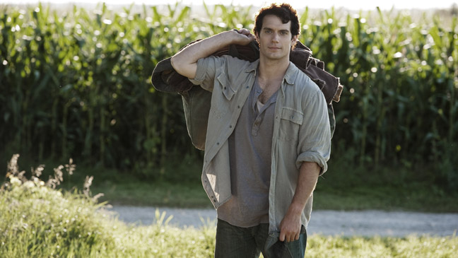 Man of Steel Henry Cavill as Clarke Kent in Field - H 2013