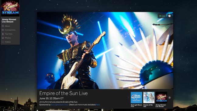 Myspace - Jimmy Kimmel Live screen grab L