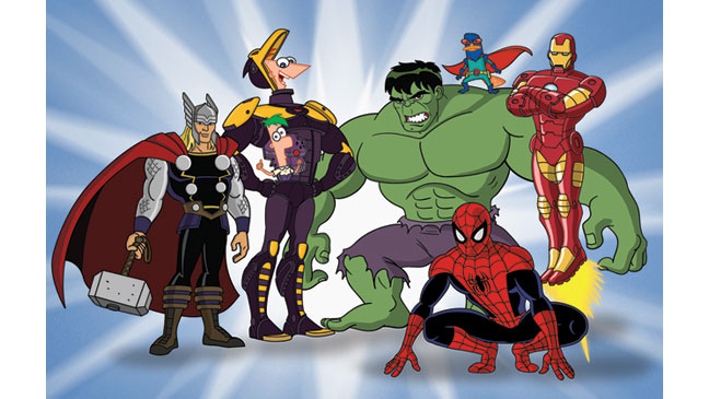 Phineas Ferb Marvel - H 2013