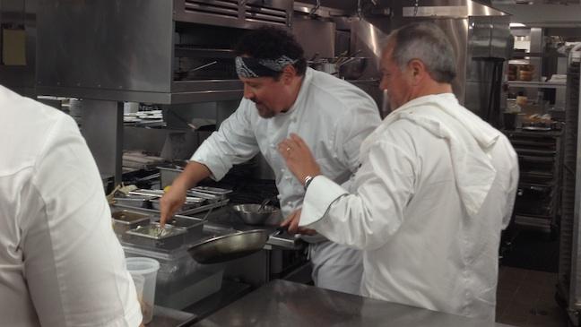 Jon Favreau Cooking at the Hotel Bel-Air H