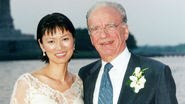 Rupert Murdoch Wendi Deng Wedding Photo - H 2013