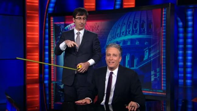 Daily Show Jon Stewart John Oliver - H 2013