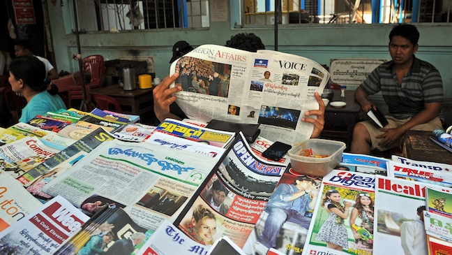 Myanmar Press Newspapers 2013 H