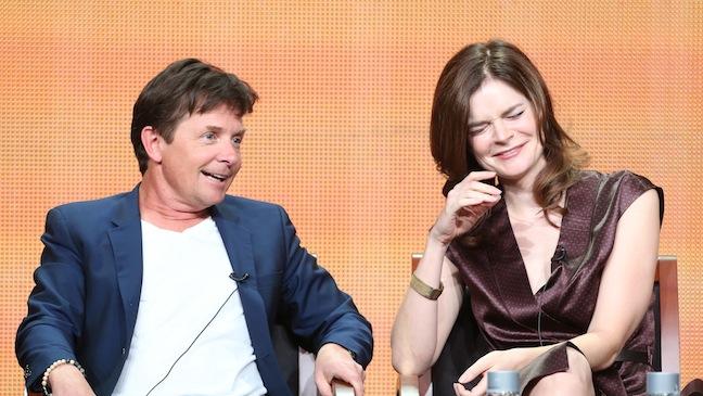 Michael J. Fox and Betsy Brandt TCA 2013