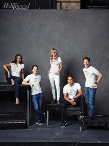 Gina Torres, Matt Bomer, Bonnie Hammer, Daniel Sunjata and Mark Feuerstein
