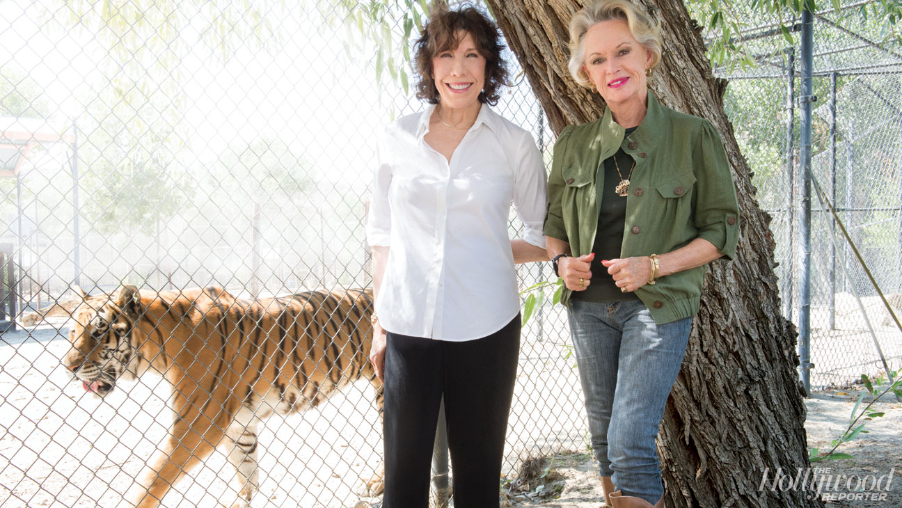 Lily Tomlin, Tippi Hedren and Shere Khan